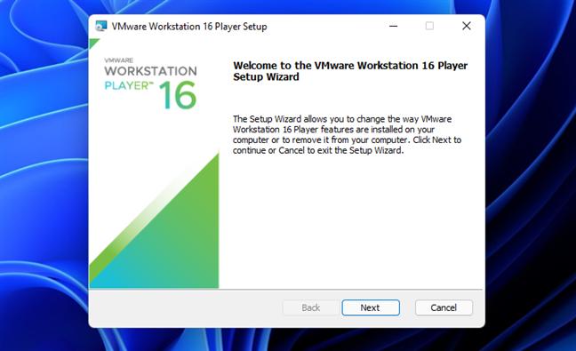 Установите VMware Workstation Player 16 бесплатно