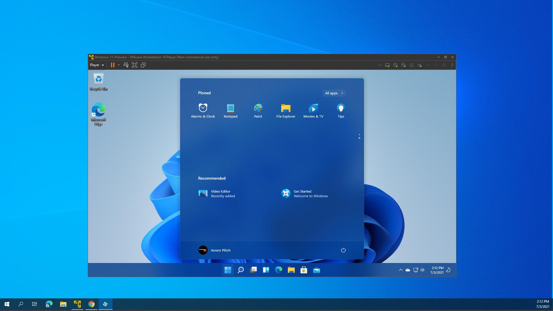 windows 11 в виртуальной машине vmware
